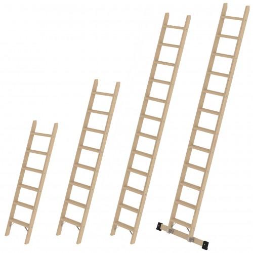 Günzburger Holz Stufen-Anlegeleiter