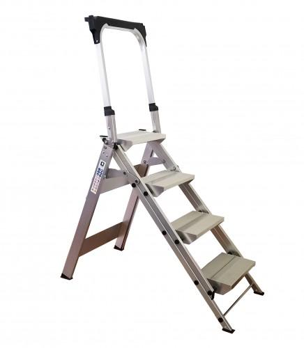 Günzburger Klapp Treppe, mit klappbarem Bügel 4 Stufen