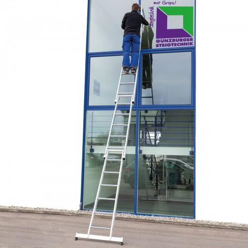 Günzburger Stufen-Glasreinigerleiter mit nivello-Traverse