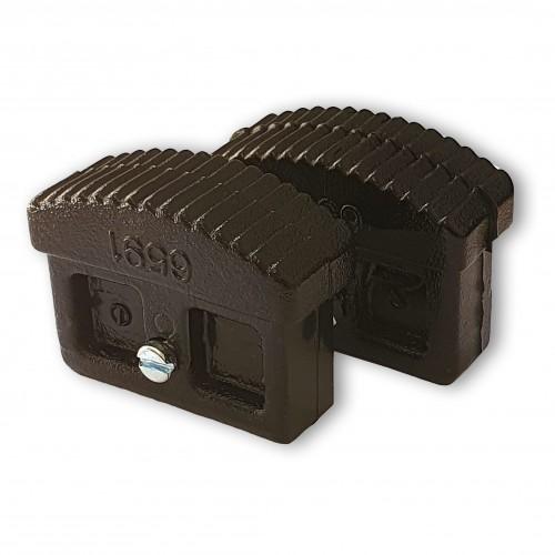 Iller Innenschuhe für Sprossenleitern 60x22mm Holmgröße 2 Stück