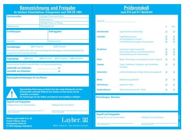 Layher FG Kennzeichnungsblock