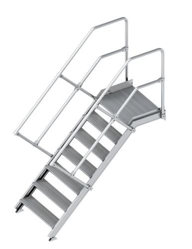 Layher 112 Treppe mit Plattform 45°