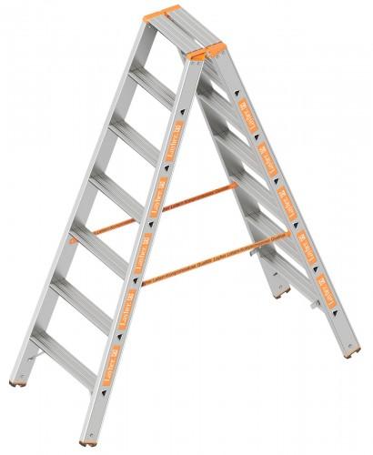 Layher Topic 1043 Stufenstehleiter 2x7 Stufen