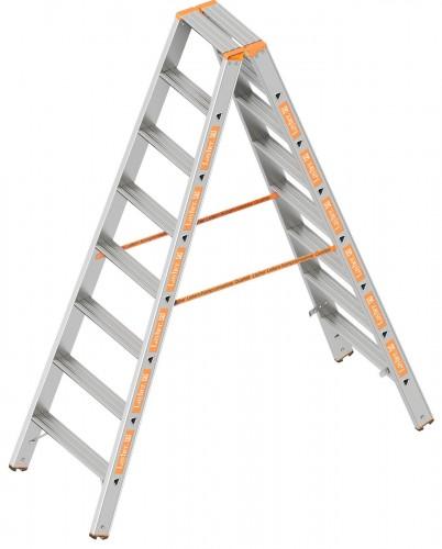Layher Topic 1043 Stufenstehleiter 2x8 Stufen