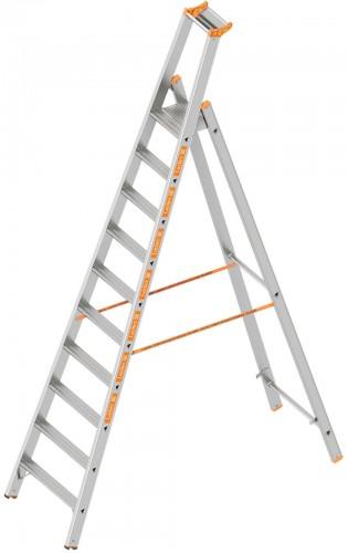 Layher Topic 1064 Stufenstehleiter 10 Stufen