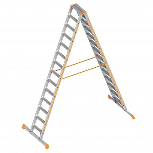 Layher Topic 1043 Stufenstehleiter 2x14 Stufen