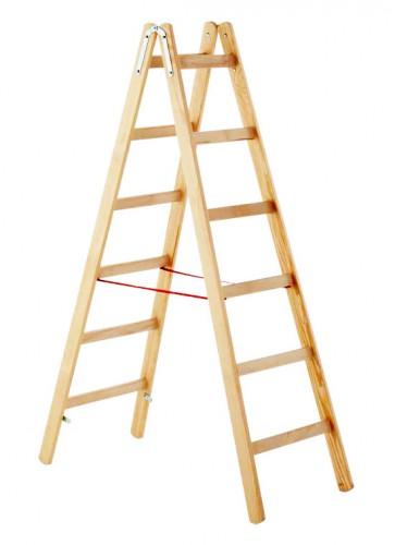 Zarges Holz Stehleiter Cresta B, beidseitig begehbar 2x8 Sprossen