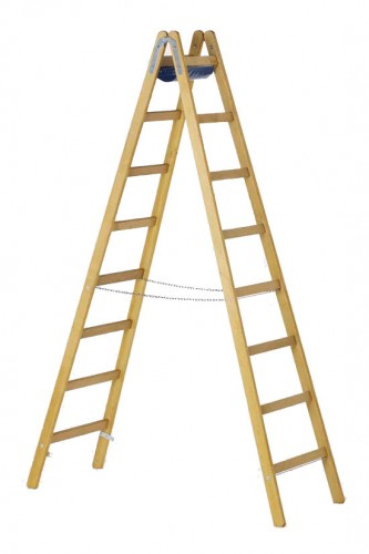 Zarges Holz Stehleiter Crestamax B 2x8 Sprossen