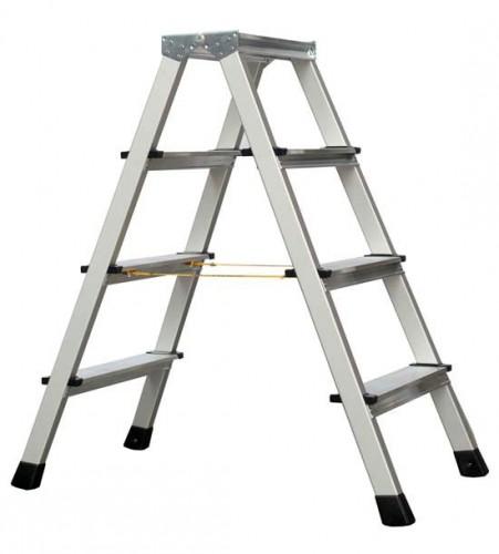 Zarges genietete Stehleiter eloxiert XLstep B 2x4 Stufen