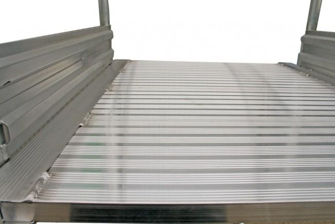 Günzburger Podestleiter fahrbar R13 Korund 2x4 Stufen