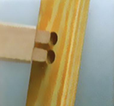 Layher 1053 Holzstehleiter nach Ö-Norm Z1501 2x6 Sprossen