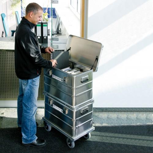 Günzburger Aluminium-Transportkiste stapelbar
