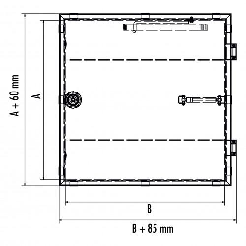 Hailo Schachtabdeckung HS12 Edelstahl tagwasserdicht und begehbar Klasse A15kN