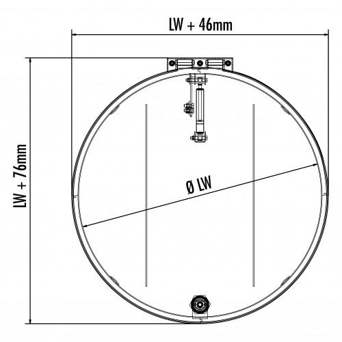Hailo Schachtabdeckung HS12 Edelstahl rund tagwasserdicht und begehbar Klasse A15kN