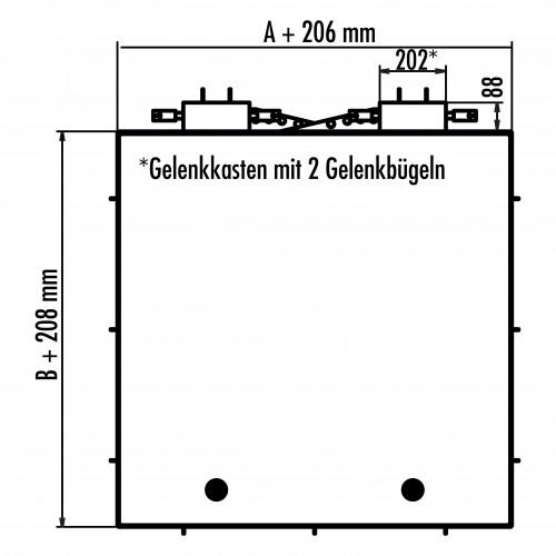 Hailo Schachtabdeckung HS8 Edelstahl rechteckig tagwasserdicht und geruchssicher Klasse B/D