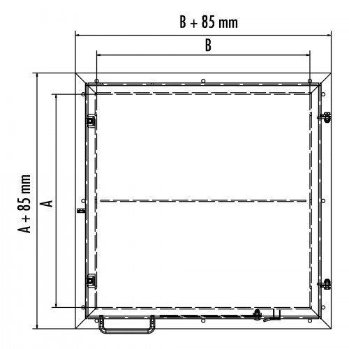 Hailo Schachtabdeckung HS9 Aluminium begehbar und tagwasserdicht