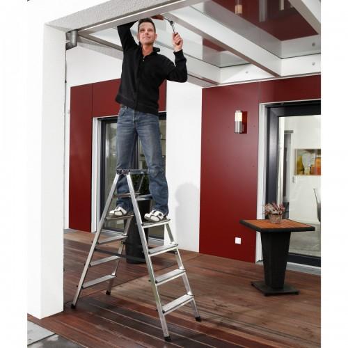 Krause Dopplo Stufen Doppelleiter 2x6 Stufen