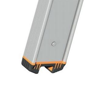 Layher Topic 1042 Stufenanlegeleiter mit Quertraverse 14 Stufen