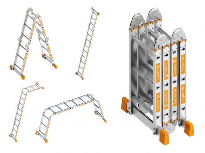 Layher Topic 1057 Kofferraumleiter 4x3 Sprossen