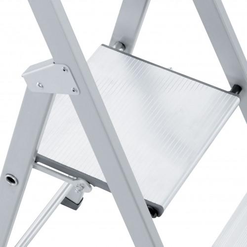 Zarges genietete Stehleiter eloxiert Scana S 5 Stufen