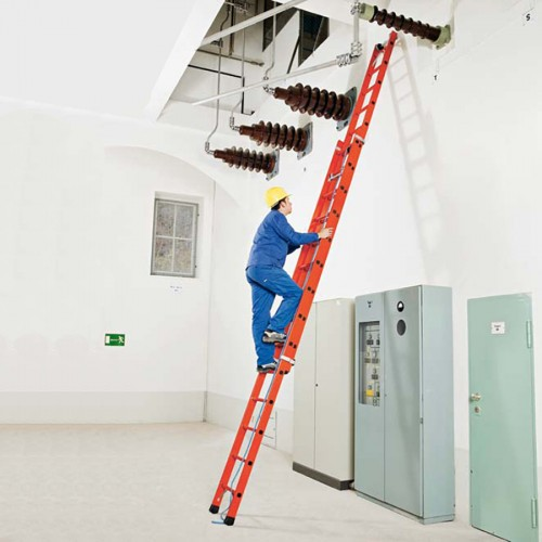 Zarges Vollkunststoff-Seilzugleiter Skyline EFA 2E 2-teilig
