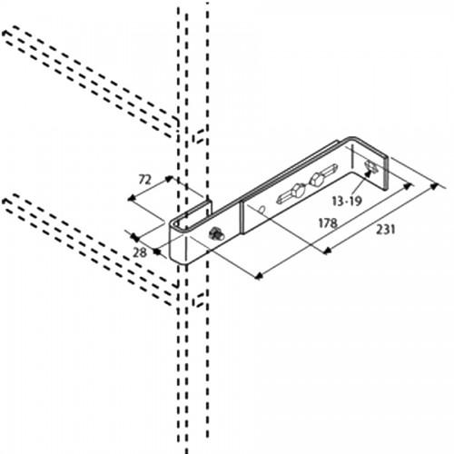 Wandabstand 150 mm Zarges Wandhalter für verzinkte Stahlleitern