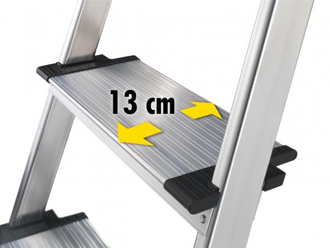 Hailo L80 ComfortLine Stehleiter 6 Stufen