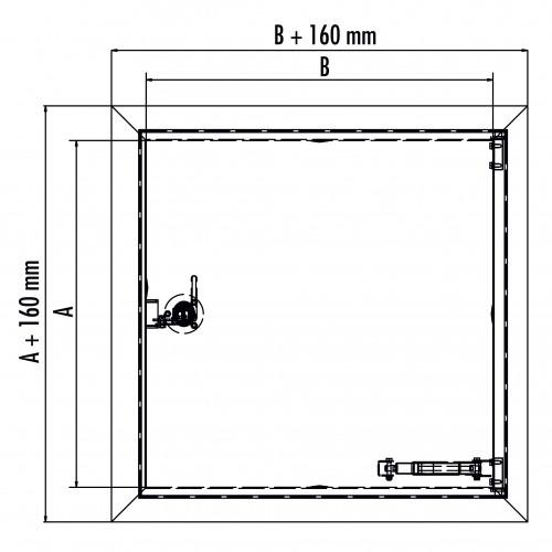 Hailo Schachtabdeckung HS7 Edelstahl 4mm begehbar und tagwasserdicht