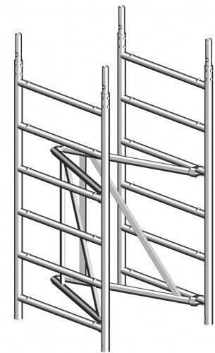 Layher Rollgerüst Zifa Sicherheitsaufbau P2 3,61m AH