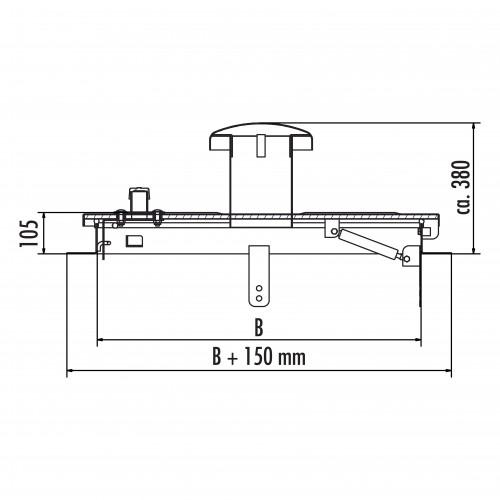Hailo Schachtabdeckung HS1/2 Edelstahl 2-4mm tagwasserdicht