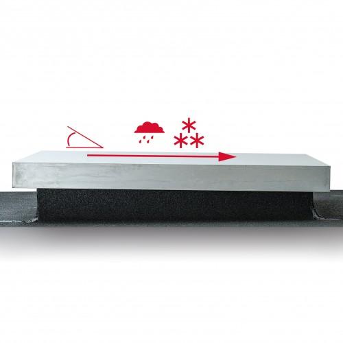 Dolle Flachdachausstieg mit Bodentreppe clickFIX® 3-teilig mit U-Wert 0,64 Standardmaße