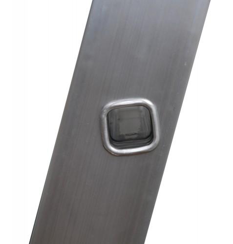 Günzburger Stufenanlegeleiter mit Traverse und Ergo-Pad 12 Stufen