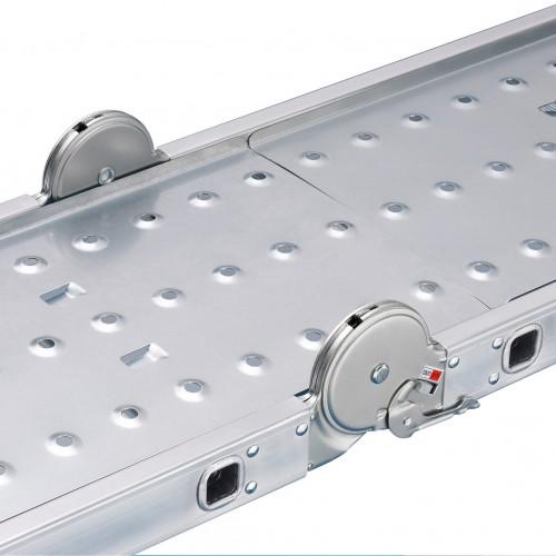 Hailo ProfiStep® Gelenkleiter M60 mit Plattform 4x3 Sprossen