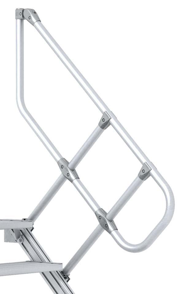 zarges handlauf f r 60 treppe 3 stufen. Black Bedroom Furniture Sets. Home Design Ideas