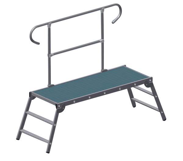 zarges z600 gel nder f r arbeitsplattform. Black Bedroom Furniture Sets. Home Design Ideas